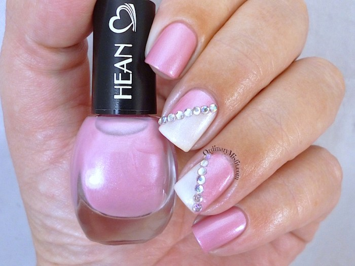 Hean I love Hean collection #412 with nail art 3