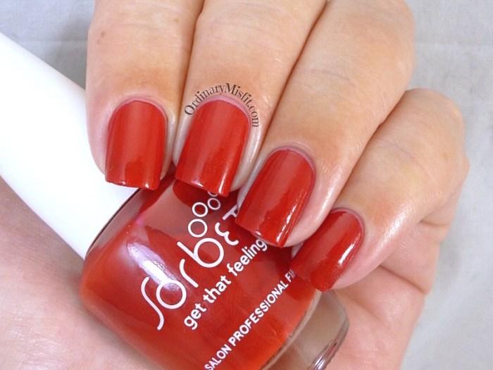 Sorbet - Red light nail polish swatch