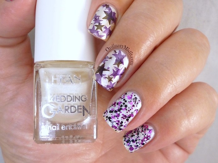Hean Wedding Garden collection #636 - Stars in my eyes with nail art