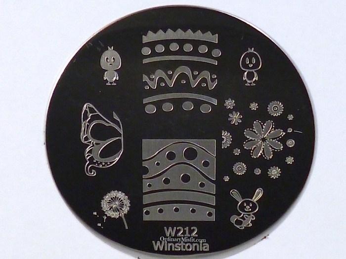 Winstonia stamping plate W212