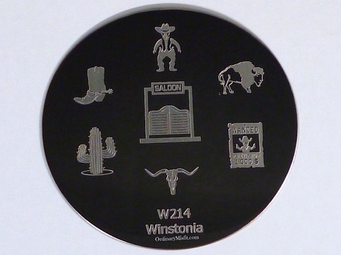 Winstonia stamping plate W214