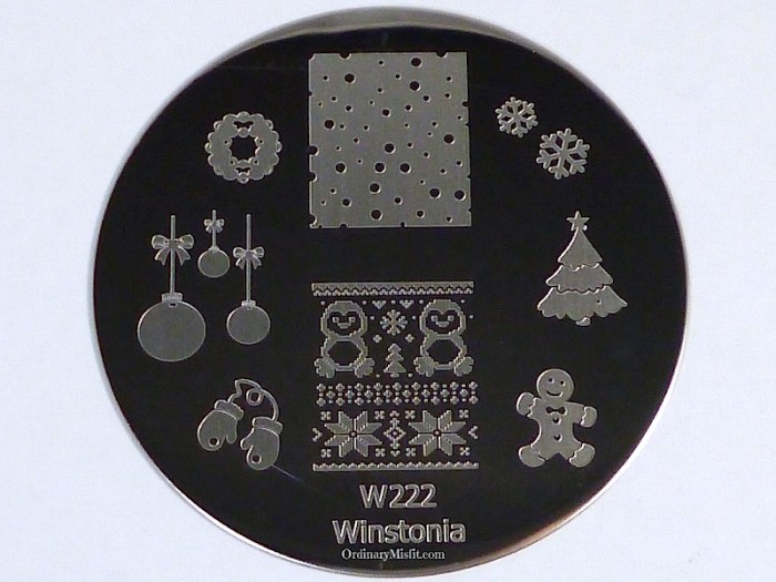 Winstonia stamping plate W222