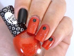Hean I love Hean Sugar collection #858 with nail art