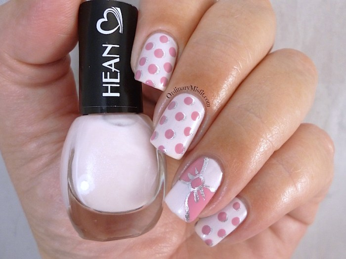 Hean I love Hean collection #404 with nail art 3