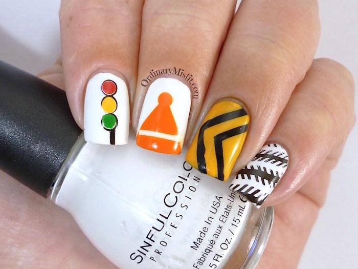 #PPSANailChallenge Traffic nail art