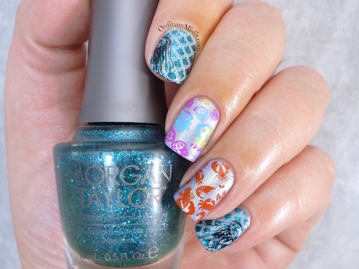Twinsies under the sea nail art