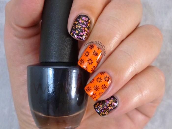 Neon & black nail art 3
