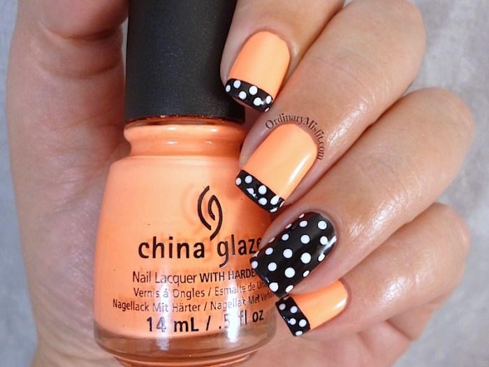 31DC2015 Day 2 Orange nails