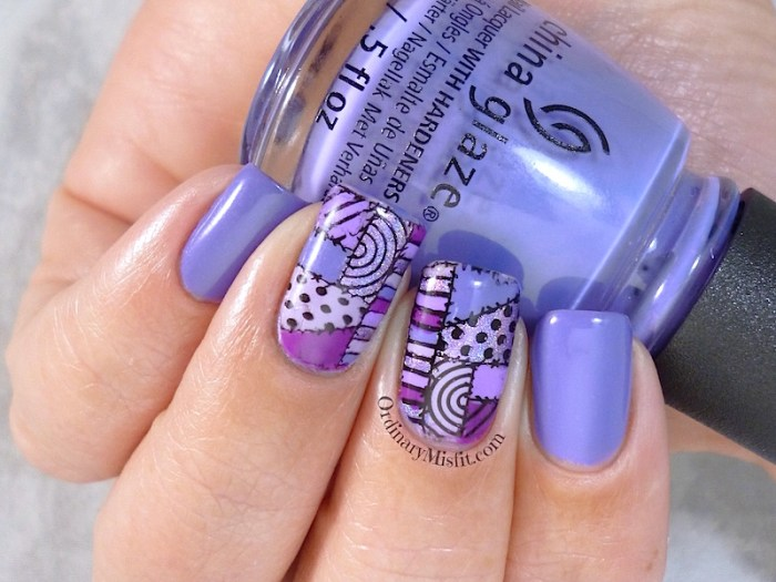 31DC2015 Day 6 violet nails