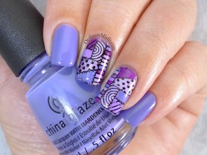 31DC2015 Day 6 violet nails