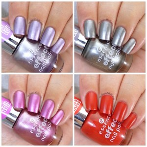 New Essence effect polishes collage