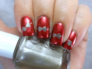 NailLinkup Wrap all the presents nail art