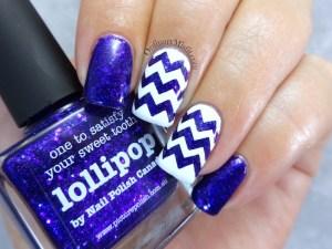 lollipop zigzags nail art