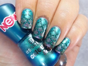 Scaled atlantis nail art