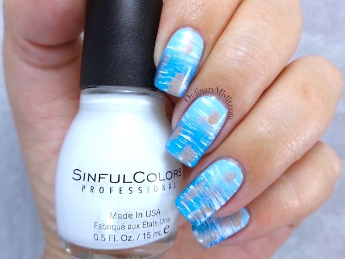 NAILLinkup March - Aquamarine nail art
