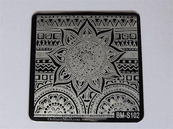 Bundle Monster Shangri la stamping plates BM-S102