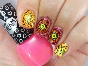 Bundle Monster Paisley flow stamping plates nail art