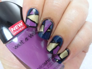 Colour block nail art