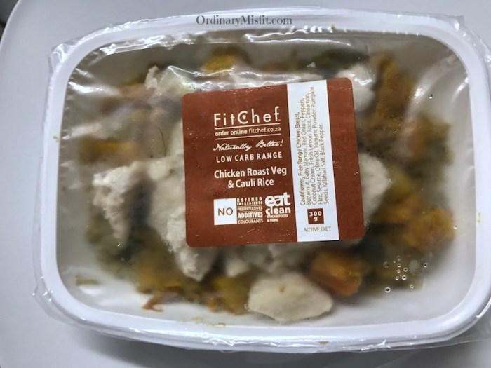 Chicken, roast veg and cauli rice