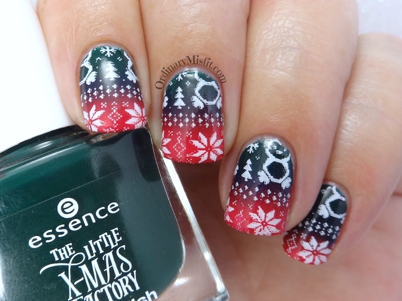 To Show You My Secret Santa Box Of Amazingness And The New Essence Juice It Trend Collection For Now Let Me Some Christmas Sweater Nail Art