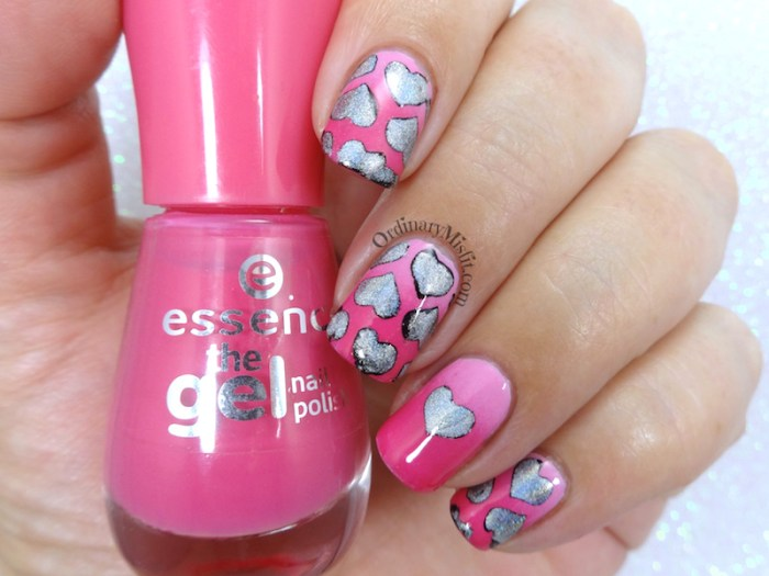 52 week nail art challenge - Valentines day nail art