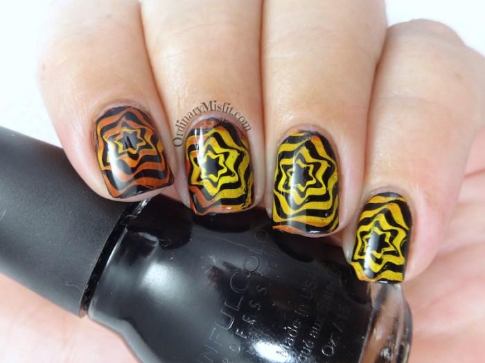 BP-L050 gradient swirl nail art