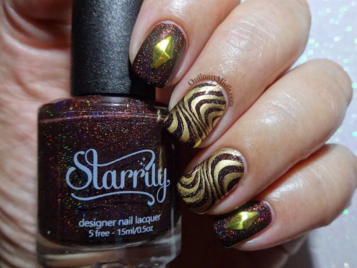 52 week nail art challenge - Brown