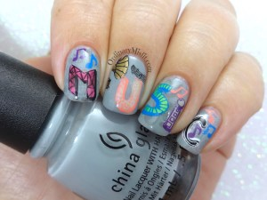 52 week nail art challenge - Inspired by music