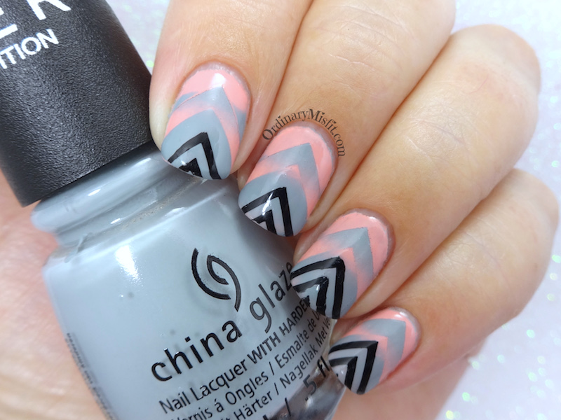 Gradient angles nail art