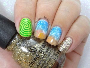 52 week nail art challenge - Inspired by a movie