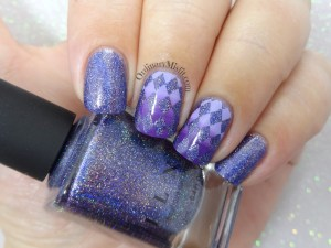 52 week nail art challenge - Purple