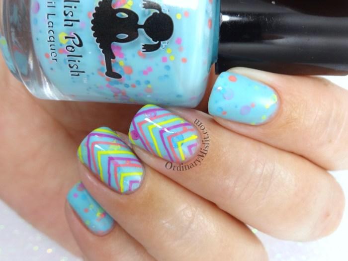 Dollish Polish - Brain freeze! nail art