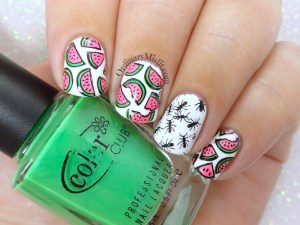 Summer picnic nail art