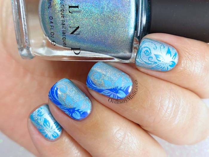 52 week nail art challenge - Blue