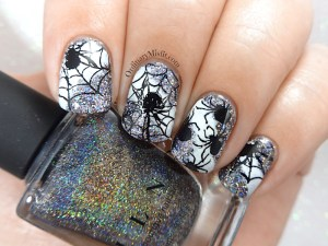52 week nail art challenge - Halloween