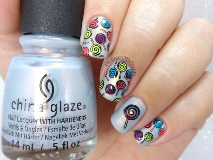 52 week nail art challenge - Candy