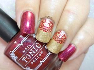 Secret santa nail art