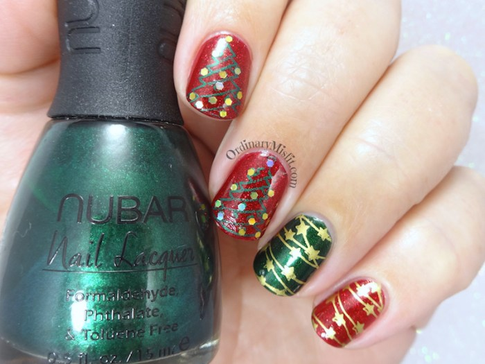 Oh christmas tree nail art