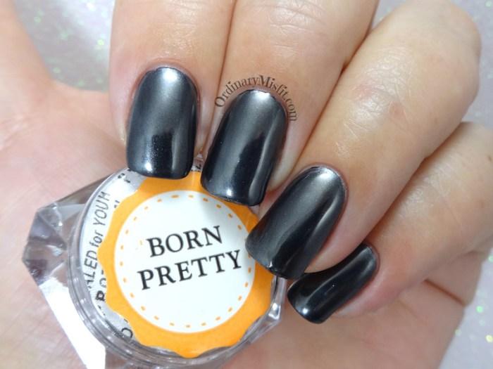 Born Pretty Store Black Chrome pigment powder