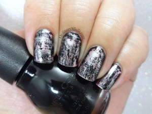 Metallic dry brush nail art