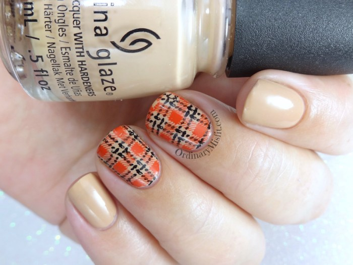 52weekchallenge - Plaid nail art