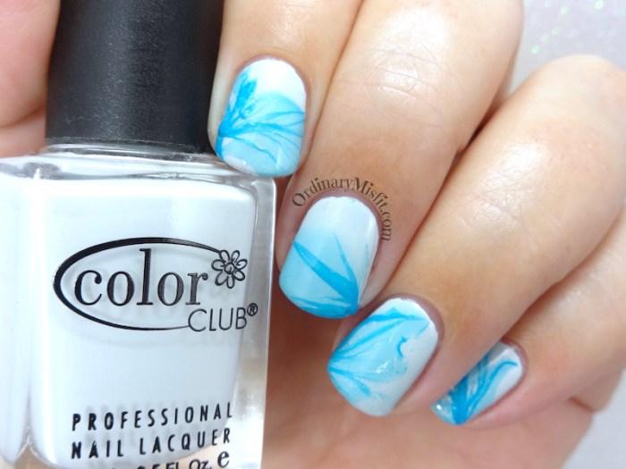 Marbled veil nail art
