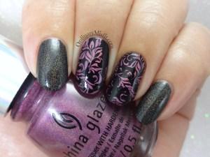 Holo swirls nail art