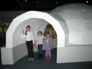In an igloo