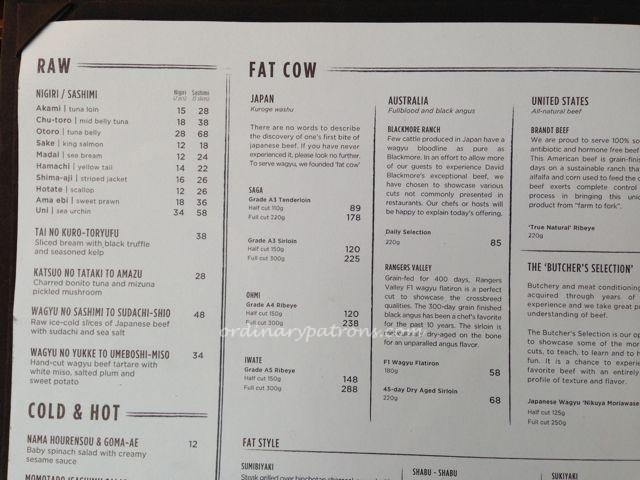Fat Cow restaurant Singapore14