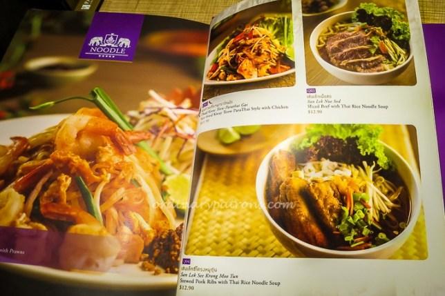 ParaThai Restaurant Menu