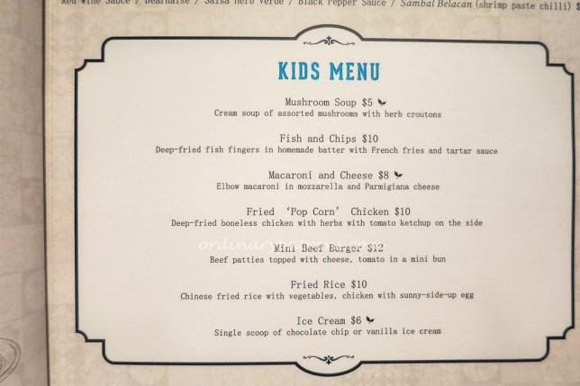 Baba Chews Restaurant Kids Menu