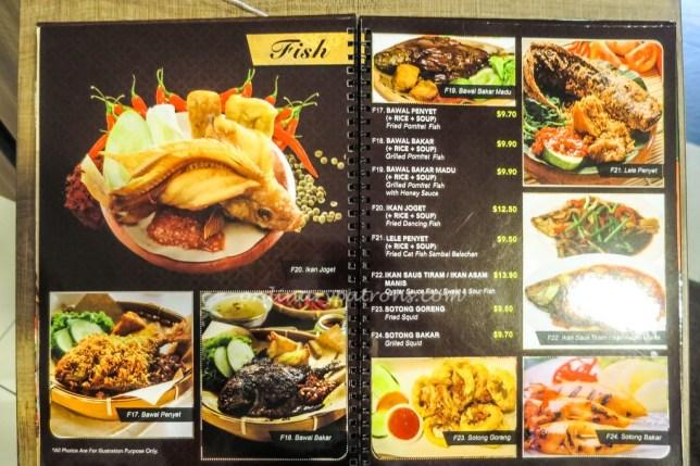 Centrepoint Dapur Penyet menu