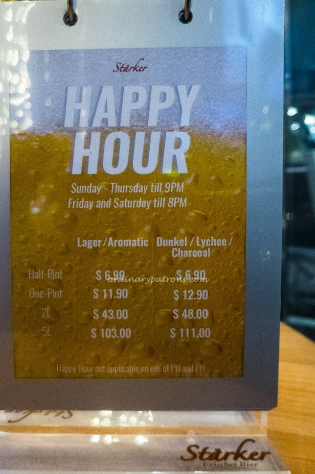 Starker Bistro Katong Square Happy Hour