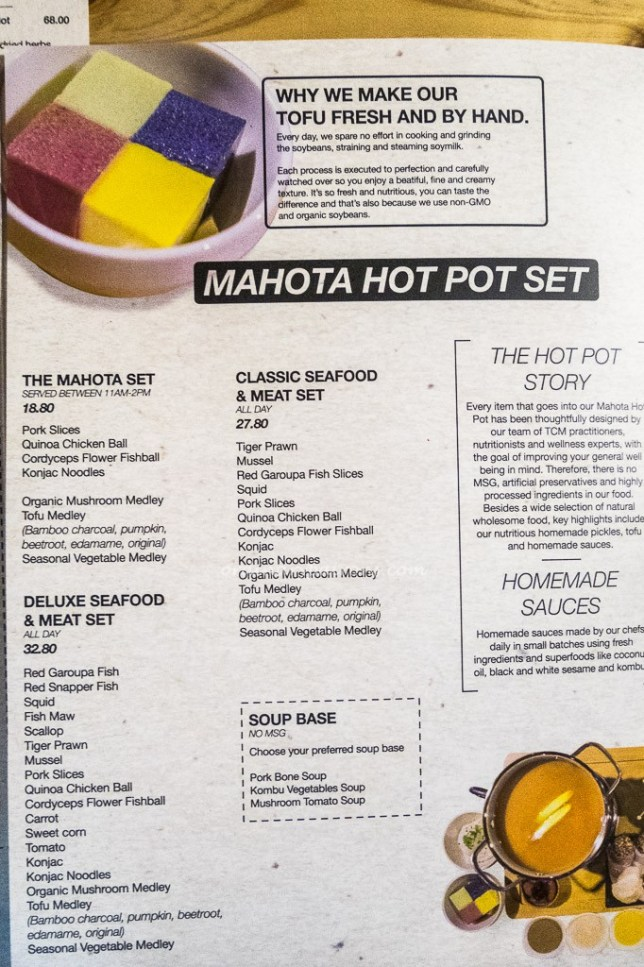 Mahota Kitchen Hot Pot Set Menu